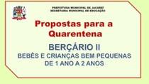 Propostas para a quarentena - Berçário II