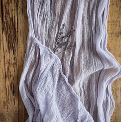 Lavender Gauze Table Runner