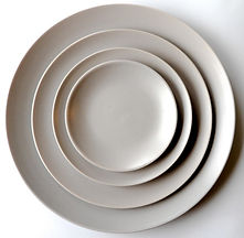 Natural Linen Stoneware Set