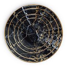 Black Marble Dinnerware Set