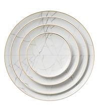 White Marble Dinnerware Set