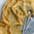 Mustard Gauze Table Runner