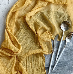Mustard Gauze Table Runner