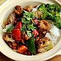 TERIYAKI CHICKEN WITH RICE DISH