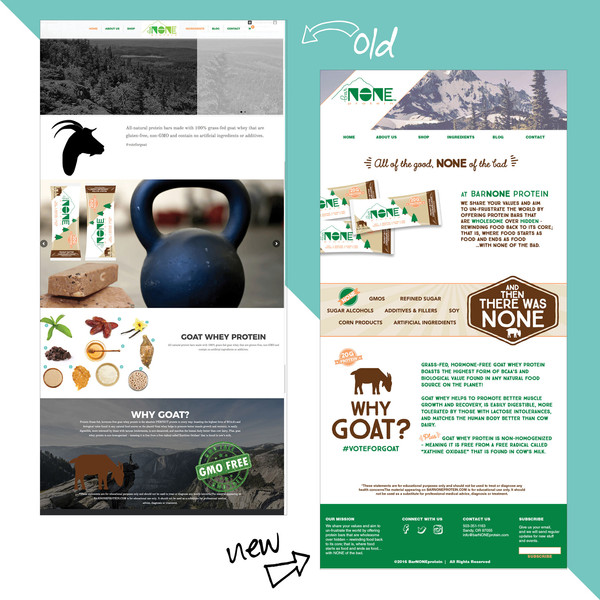 Protein Bar Website Design