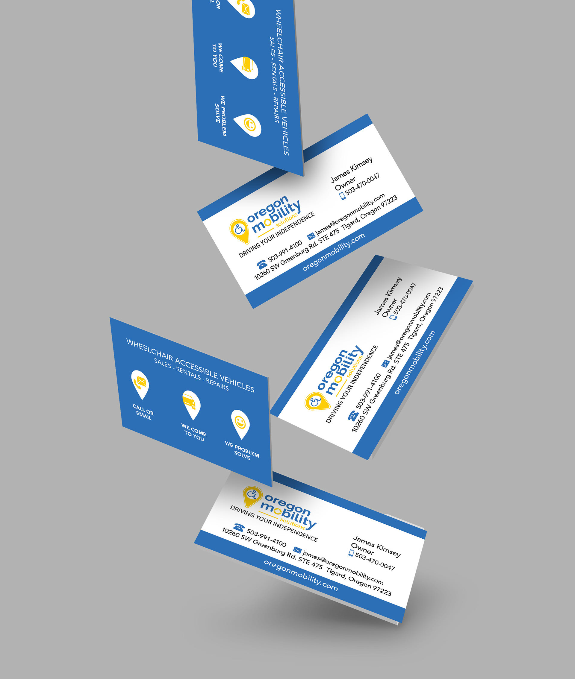 Oregon Mobility Business Cards