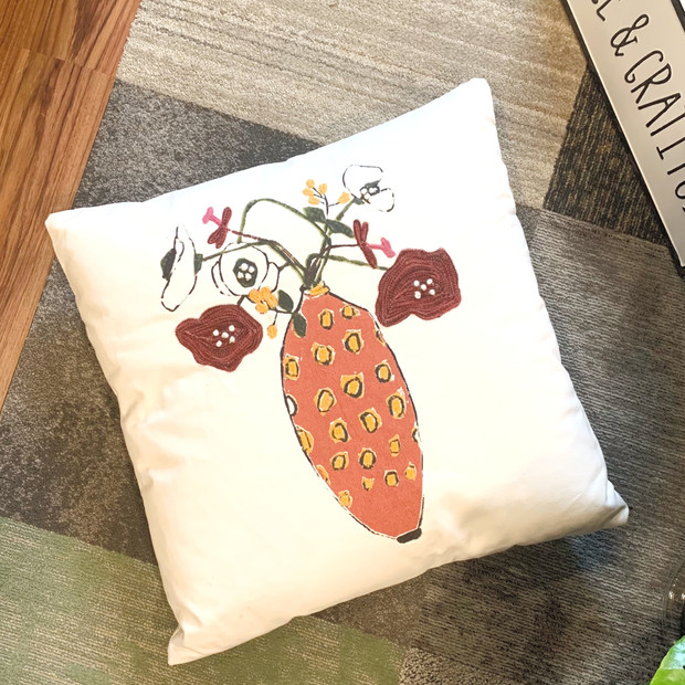 spring decor pillow
