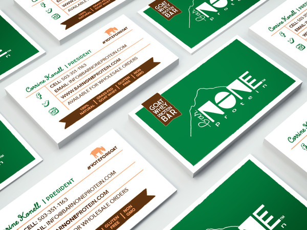BarNone Protein Bar Business Cards
