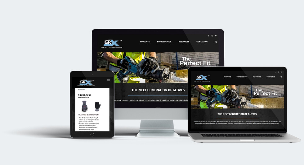GRX Industrial Glove Web Design