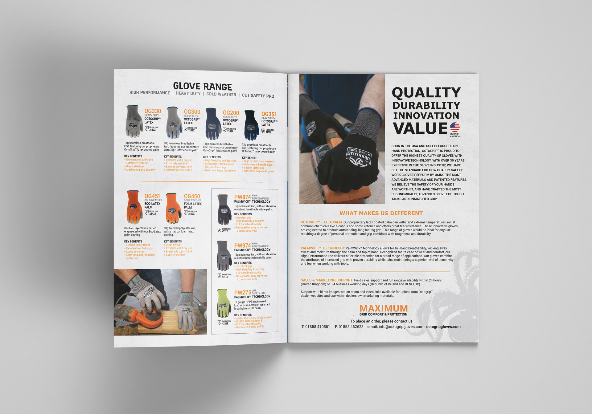 OctoGrip Work Glove Booklet