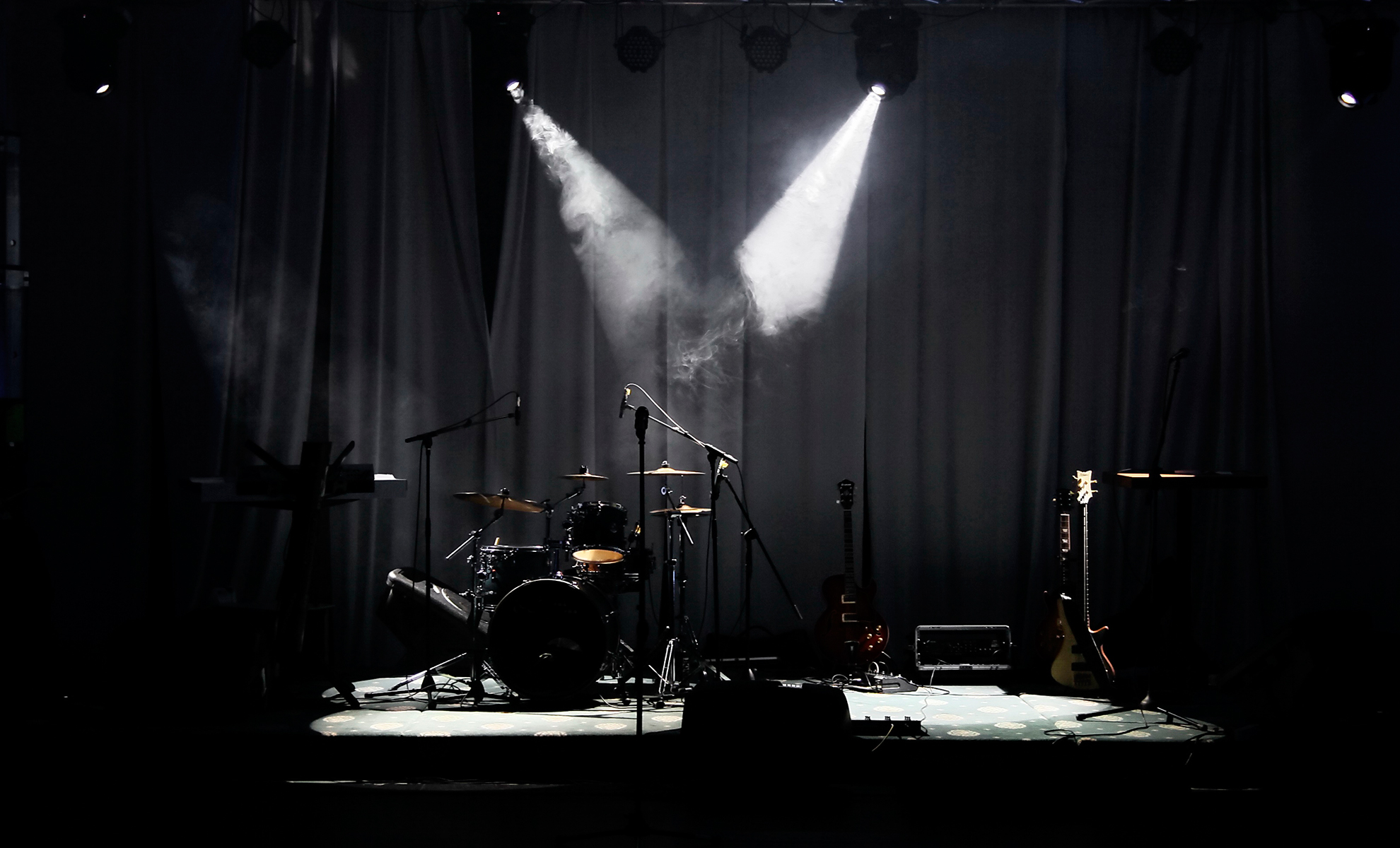 Stage in Lichter
