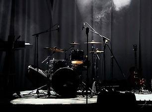 Bühne in den Lichtern