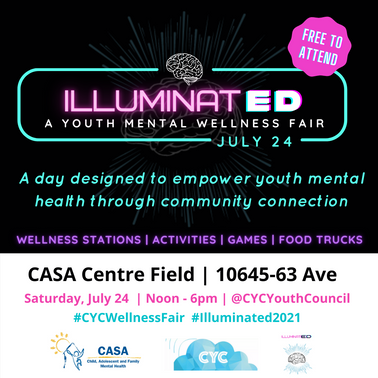 IlluminatED Youth Mental Wellness Fair, Presented by the CASA Youth Council