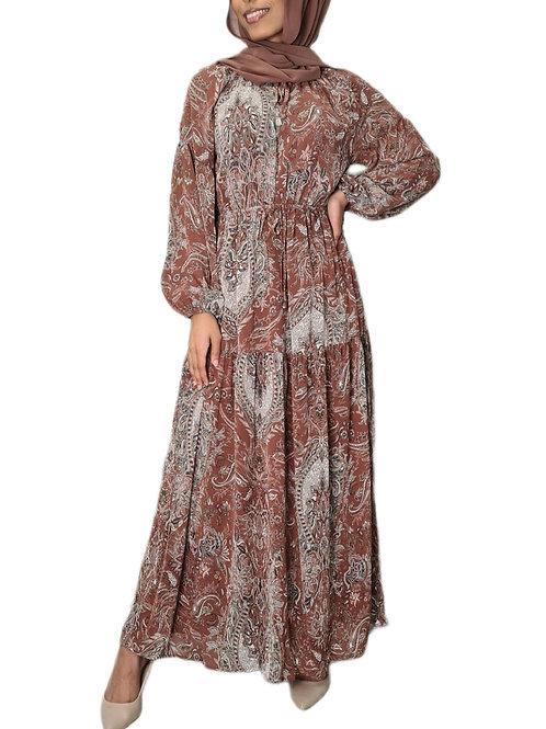 Adalynn Maxi Dress Rust