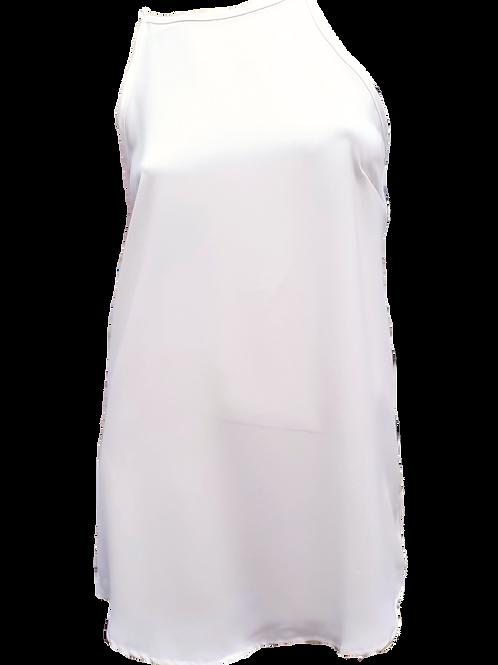 Knee Length Singlet White