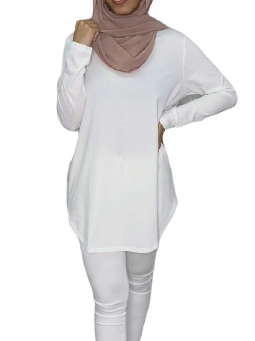 Mina Cotton Top White