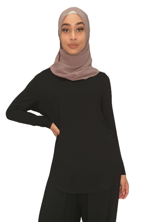 Jersey Cotton Top Black