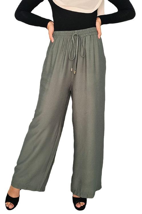 Wide Leg Pants Khaki