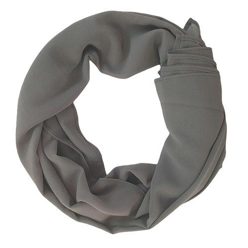 Chiffon Crepe - Medium Grey (21)