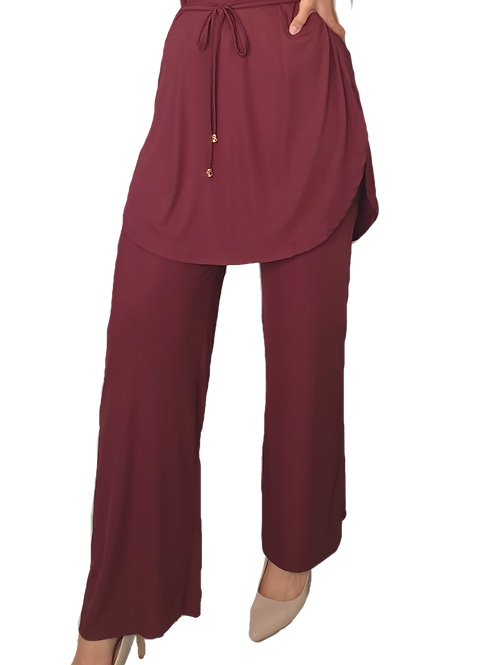 Everly Lux Pants Maroon