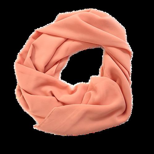 Chiffon Crepe - Soft Orange Pink (22)