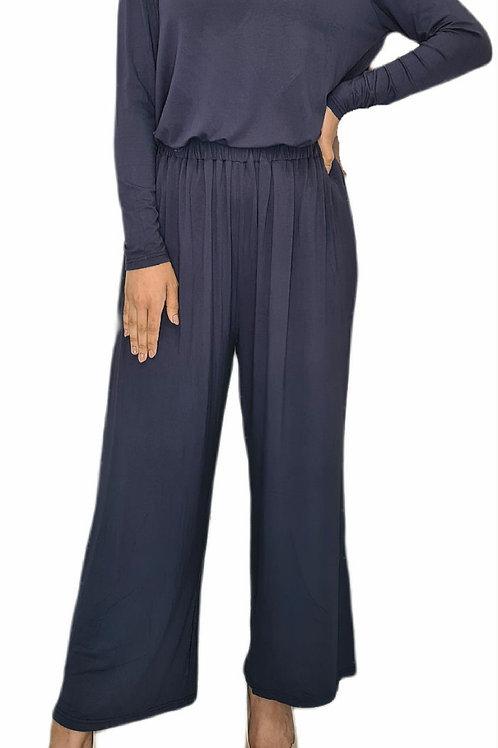 Jersey Cotton Pants Navy