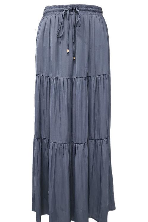 Meera Maxi Skirt Steel Blue