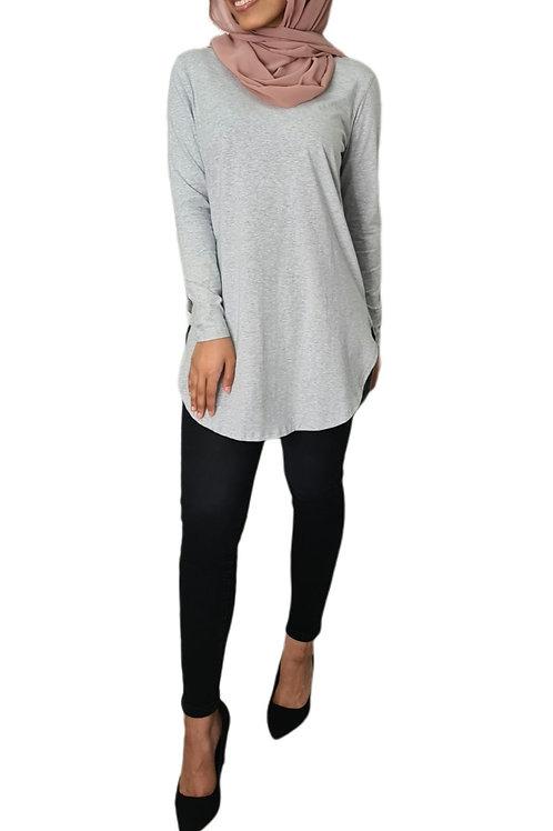 Dianna Cotton Mid Top Grey