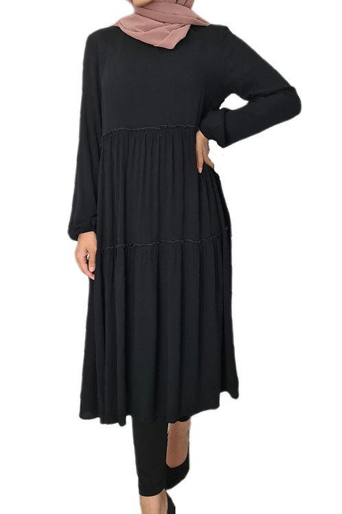 Autumn Midi Dress Black