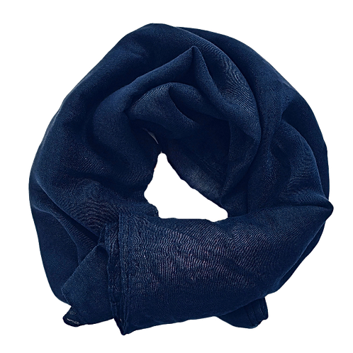 Cotton Shawl - Navy