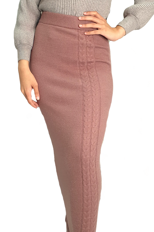 Maya Knit Skirt Blush