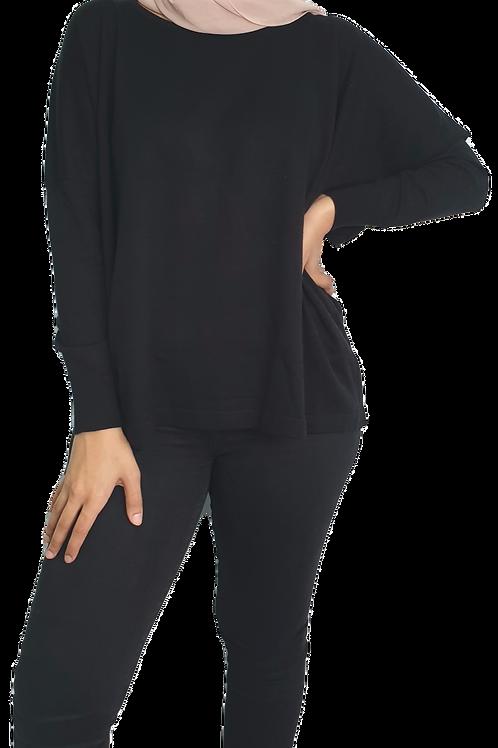 Zahraa Fine Knit Black