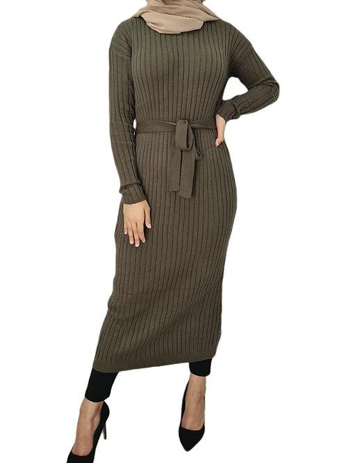Harlow Knit Dress Khaki