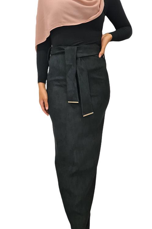 Audrey Suede Skirt Black