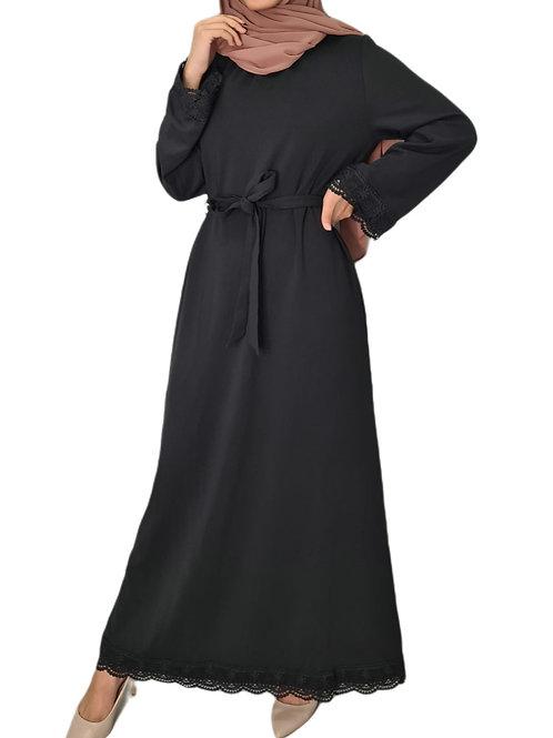 Vintage Lace Dress Black