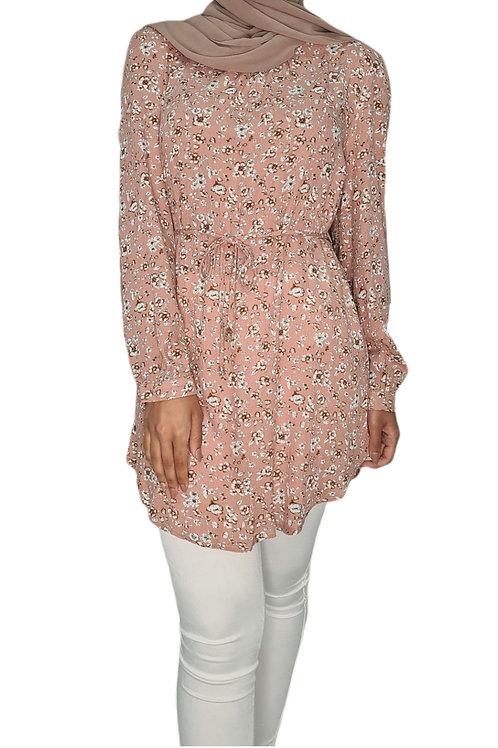 Meeha Floral Top Blush