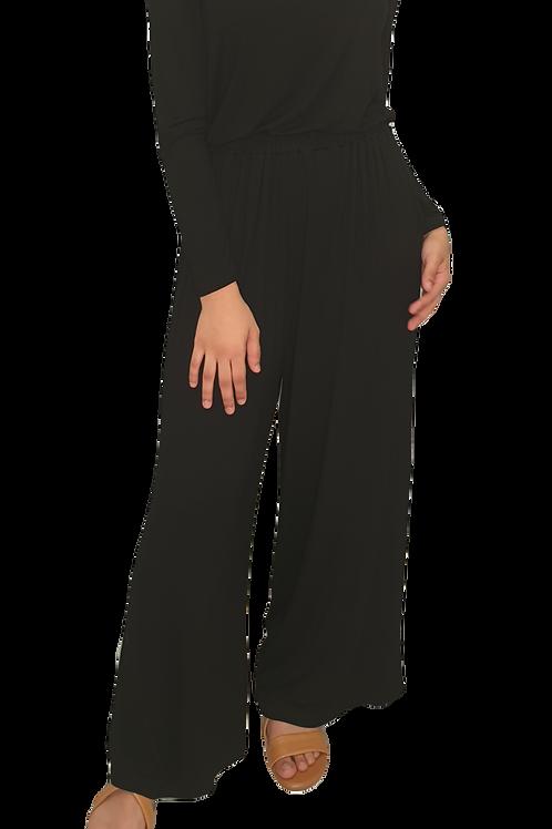 Jersey Cotton Pants Black