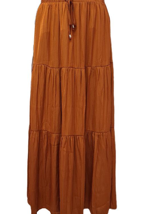 Meera Maxi Skirt Rust Orange