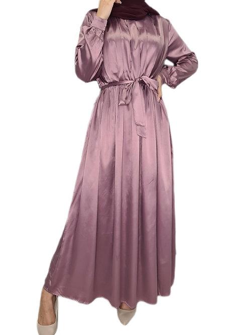 Yasmeen Satin Dress Mauve