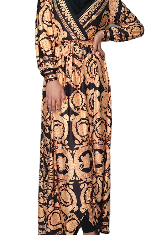 Baroque Wrap Dress