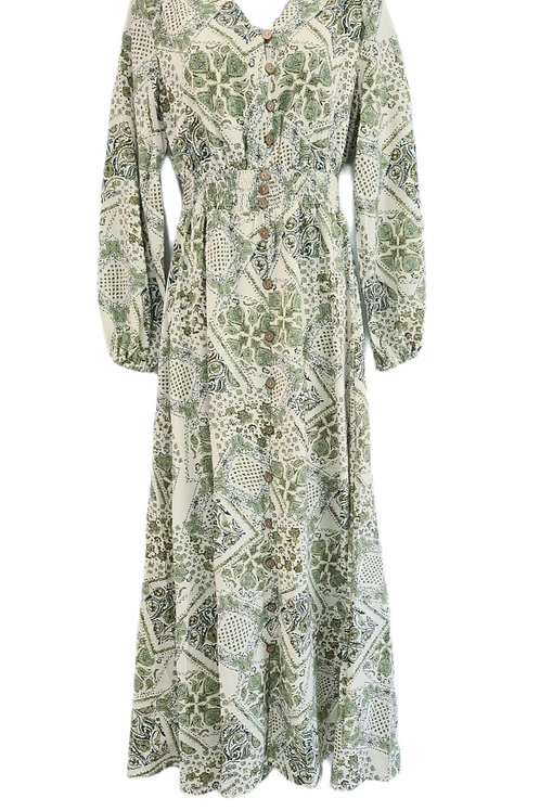 Sage Cotton Dress