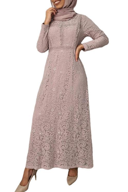Emily Lace Dress Blush