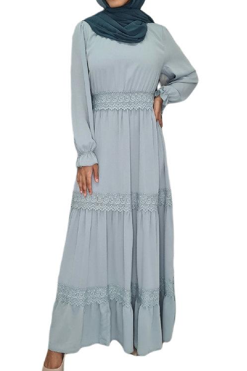 Zahraa Lace Dress Blue