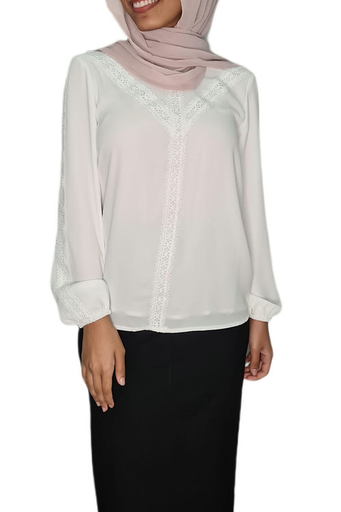 Charlotte Lace Top White