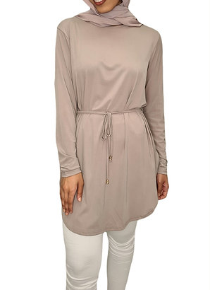 Everly Lux Top Taupe