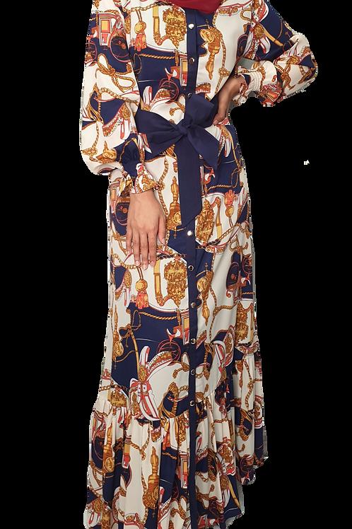 Baroque Maxi Dress