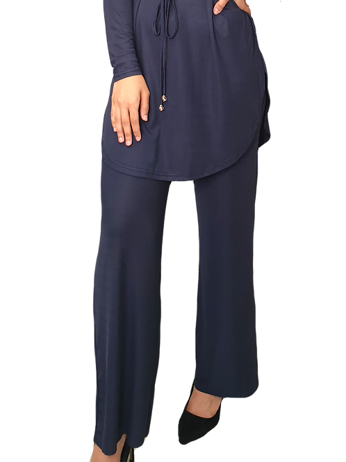 Everly Lux Pants Navy