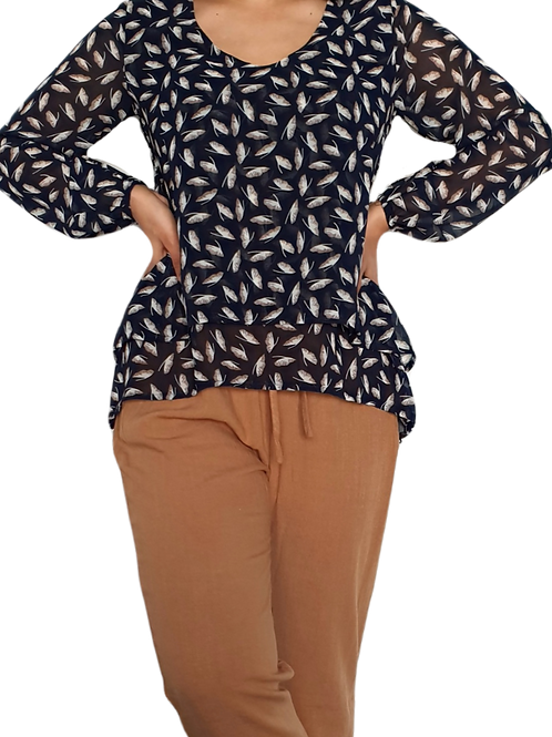 Everly Top Navy