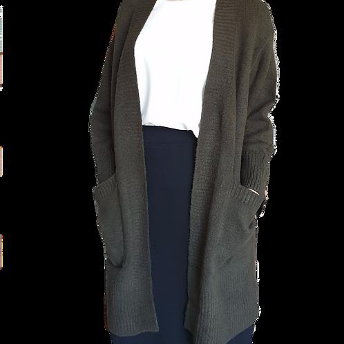 Lucy Knit Cardi Khaki