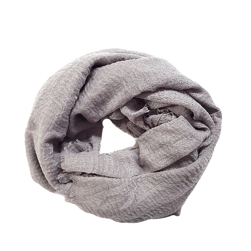 Crinkle Cotton - Grey Mauve